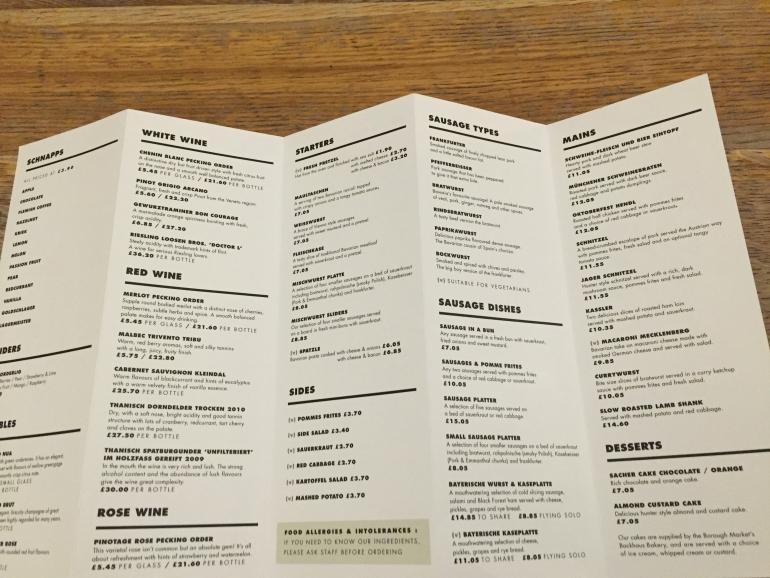 Katzenjammer menu