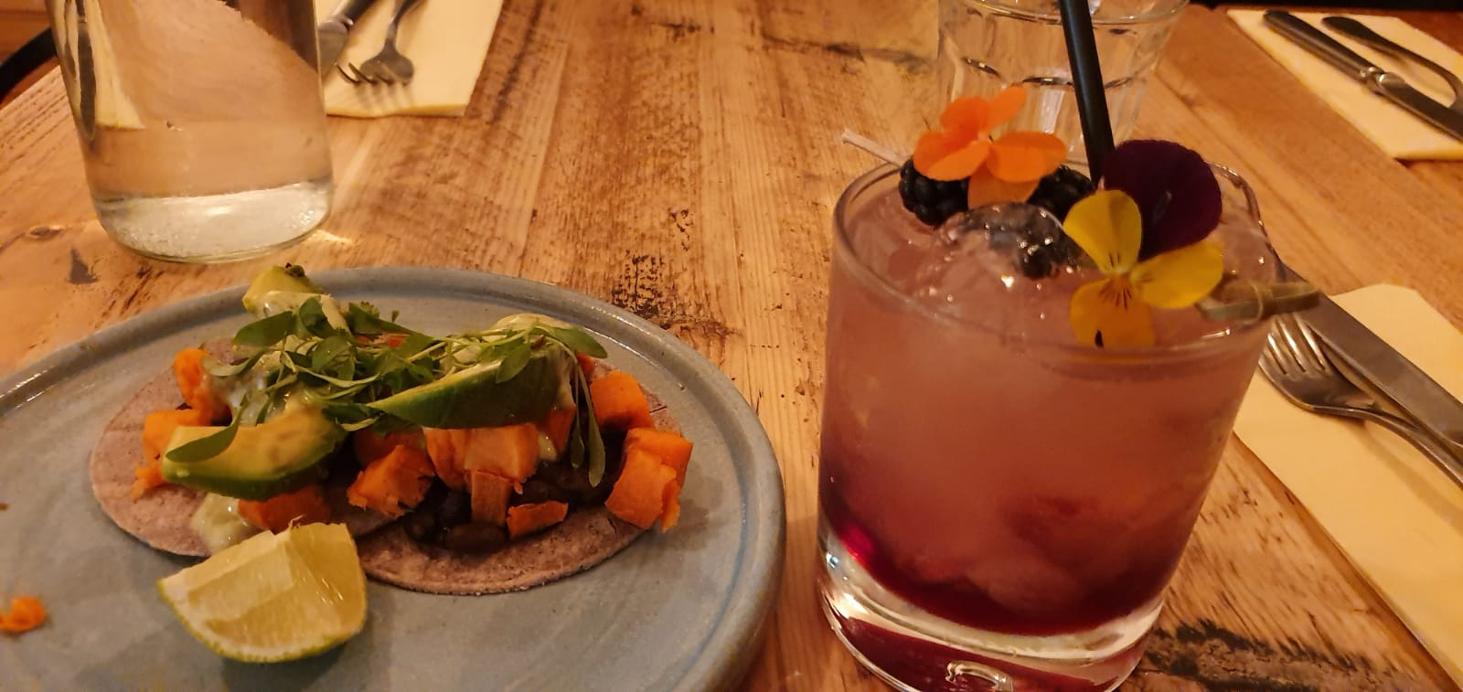Fish tacos and mulled bramble