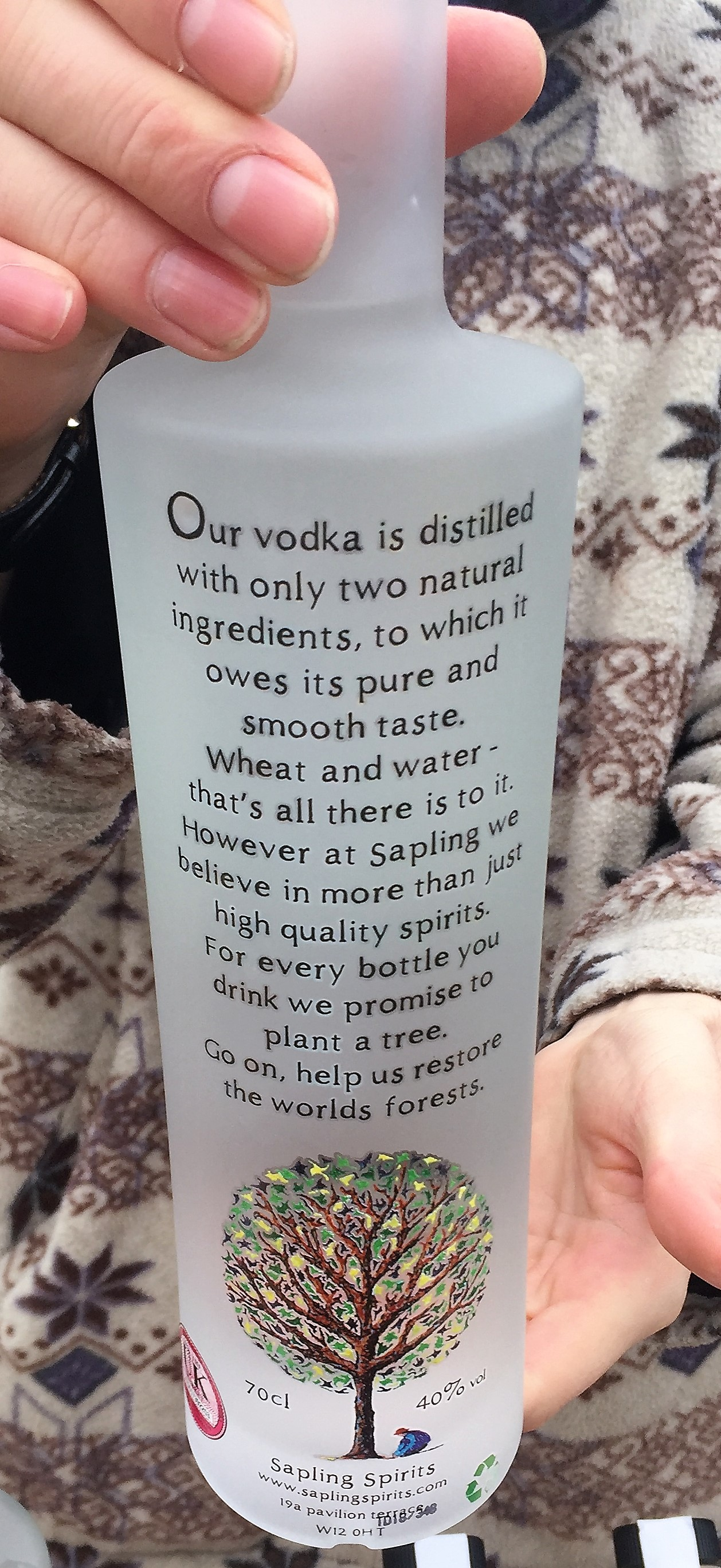Sapling Spirit's Vodka